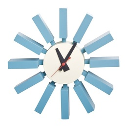 George Nelson Block Clock Blue