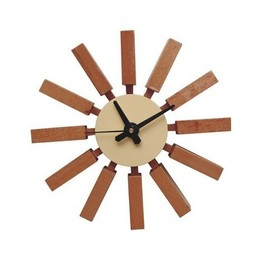 George Nelson Block Clock Wood