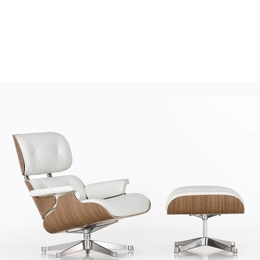 Eames Lounge Chair and Ottoman эко-кожа белый